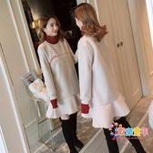 哺乳衣冬裝外出刷毛加厚時尚辣媽款產后喂奶衣服秋冬裝哺乳連衣裙