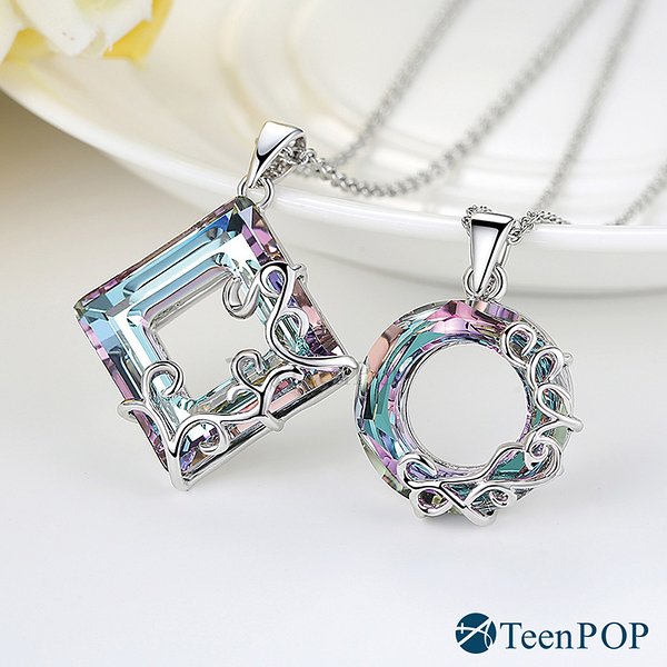項鍊ATeenPOP 採施華洛世奇水晶元素 夢幻世界 單個價格 正白K 聖誕禮物 情侶對鍊