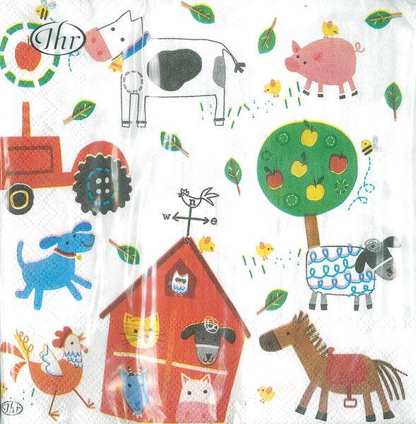 新貨到!我的小農場-德國 IHR 餐巾紙(33x33cm)