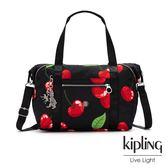 Kipling x HELEN LEE聯名款-艷彩櫻桃圖騰手提側背包-ART