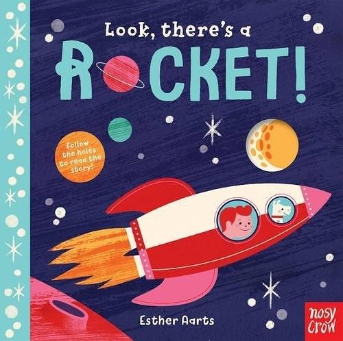 【探索洞洞書】LOOK THERE'S A ROCKET /硬頁書 《主題:太空世界》