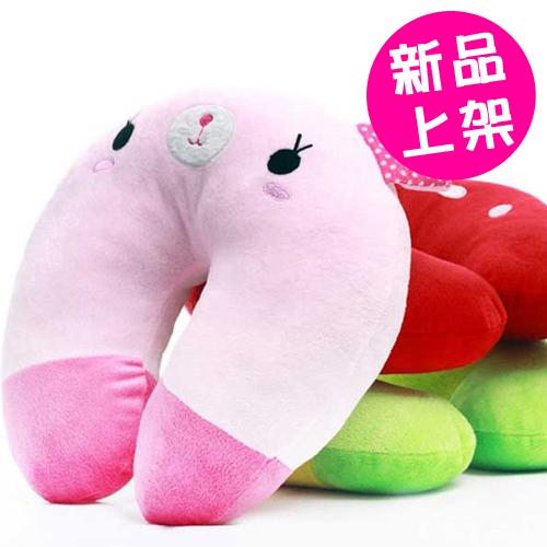 貓咪兔子可愛卡通U型枕 午睡枕 護肩頸枕 懶人枕 (7款)