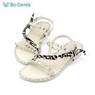 Bo Derek 鉚釘絲巾裝飾平底涼鞋