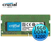 Micron 美光 Crucial DDR4 3200 16GB SODIMM 筆記型電腦記憶體 RAM CT16G4SFD832A