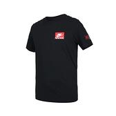 NIKE 男短袖T恤(純棉 休閒 上衣 慢跑 路跑≡體院≡ DJ1398-010
