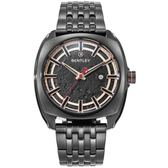 【BENTLEY】賓利 Solstice系列 漫步月球手錶 (黑 BL1681-40181)