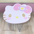 【震撼精品百貨】Hello Kitty_凱蒂貓~三麗鷗HELLO KITTY日本木製頭型摺疊桌-大頭#10281