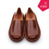 【 A MOUR 經典手工鞋 】休閒鞋 - 咖 / 氣墊鞋 / 平底鞋 / 嚴選皮革 / 休閒鞋 / DH-8500