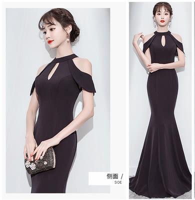 現貨洋裝長款連身裙優雅性感魚尾晚禮服(特價出不退不換可接受再拍)28397紅粉佳人