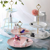 歐式創意陶瓷三層水果盤家用客廳甜品點心架蛋糕架下午茶糖果盤子 萬聖節禮物