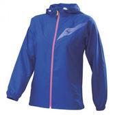 Mizuno 女裝 外套 運動 路跑 風衣 反光LOGO 藍【運動世界】J2TC828422