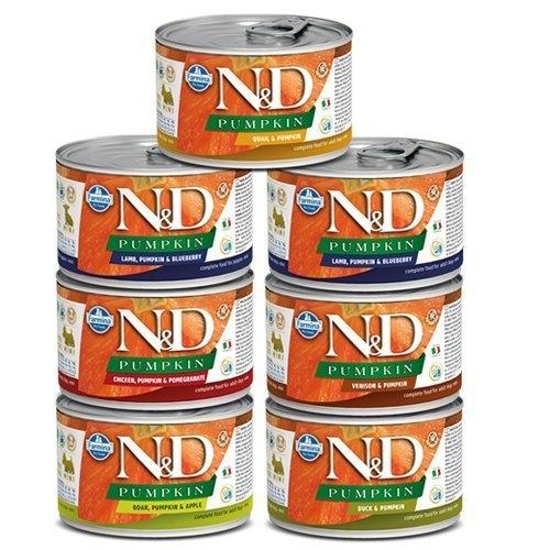 *WANG*【12罐組】義大利法米納ND《PUMPKIN天然南瓜-犬無穀主食罐/狗罐》多種口味可選-140g