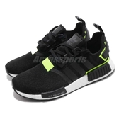 【六折特賣】adidas 休閒鞋 NMD_R1 黑 綠 男鞋 螢光綠 襪套式 Boost 運動鞋【ACS】 BD7751