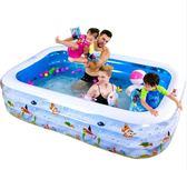 充氣泳池嬰兒童游泳池充氣家庭嬰兒成人家用海洋球池加厚超大號戲水池igo    蜜拉貝爾