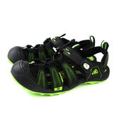 GP (Gold.Pigon) 阿亮代言 涼鞋 護趾 雨天 黑/綠 男鞋 G9224M-60 no003