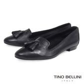Tino Bellini 義大利進口小流蘇真皮樂福鞋 _ 黑 TF4202D 歐洲進口款