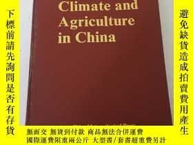 二手書博民逛書店Climate罕見and Agriculture in Chin