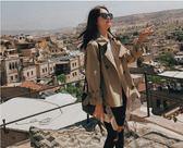 風衣 工裝外套女韓版寬鬆收腰顯瘦薄短款bf風衣上衣 igo【韓國時尚週】
