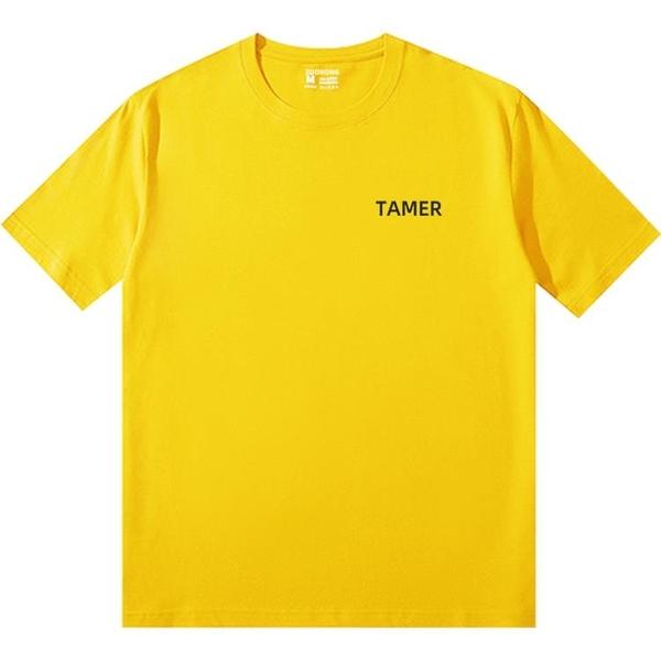青春有你2劉雨昕同款衣服黃色短袖字母T恤女周邊印花半袖ins潮夏