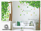 【ARDENNES】創意組合DIY壁貼/牆貼/兒童教室佈置/可重複貼 蝶舞小樹