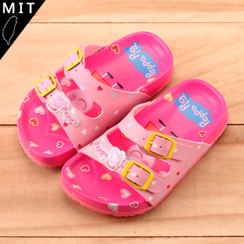 女童 佩佩豬  MIT製造粉色系輕量 休閒拖鞋 59鞋廊