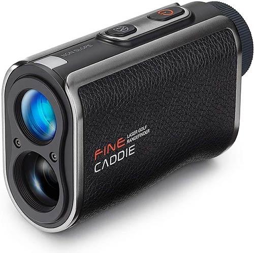 Fine Caddy【日本代購】高爾夫球測距儀 1,093yd 充電 高度差 斜率模式 6x寬視角J100-黑色