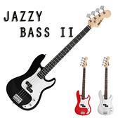 【奇歌】JAZZY ST 二代電貝斯,BASS,鋼琴烤漆+渾厚琴音+流線型琴頭,送厚棉琴袋+全配