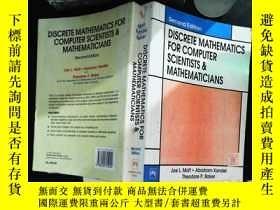 二手書博民逛書店discrete罕見mathematics for computer scientists mathematici