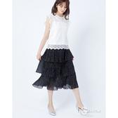 CANTWO復古多層次雪紡蛋糕裙-二色