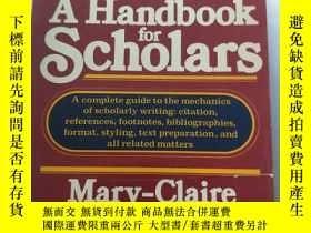 二手書博民逛書店A罕見Handbook For Scholars【封面有破損】Y