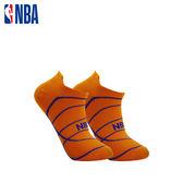NBA 船襪 MIT 運動配件 籃球緹花船襪 (橘/藍)