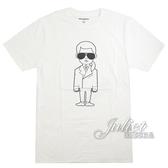 茱麗葉精品【全新現貨】KARL LAGERFELD 卡爾 人物印花造型棉質短T恤.白