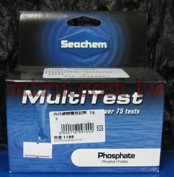 【西高地水族坊】美國原裝進口 西肯Seachem PO4磷酸鹽測試劑(可測超過75次)