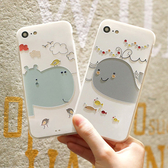 手機殼 蘋果11全包防摔個性iphone11創意浮雕磨砂卡通可愛磨砂新款河馬鯨魚蘋果11pro 交換禮物
