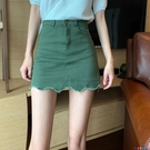 牛仔短裙 包臀裙女夏季2021年新款時尚氣質顯瘦高腰性感牛仔半身a字短裙子寶貝計畫 上新