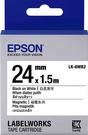 LK-6WB2 EPSON 磁鐵系列白底黑字標籤帶(寬度24mm) C53S656408