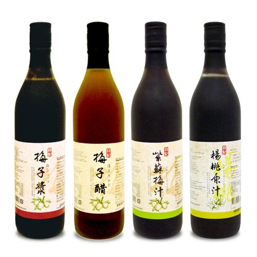 祥記-健康梅介四重奏(梅子漿+梅子醋+紫蘇梅汁+楊桃原汁)