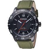 瑞士WENGER Roadster速度系列黑夜騎士腕錶  01.0851.125