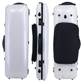 JYC Music JV-4002白色碳纖大斜紋~4/4小提琴四方盒(具備樂譜收納袋)