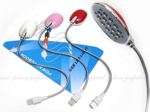 【DC110】珠光亮彩檯燈造型13燈USB免驅動 白光13LED 蛇燈 LED燈.可自由彎曲 小夜燈 EZGO商城