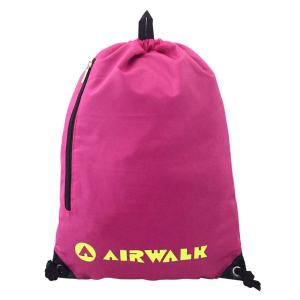 AIRWALK-輕便束口袋 後背包-(桃紅)-A615321642