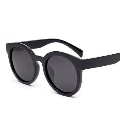 太陽眼鏡-偏光時尚大氣平面圓框男女墨鏡4色73en81【巴黎精品】