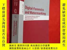 二手書博民逛書店Digital罕見Forensics and Watermark