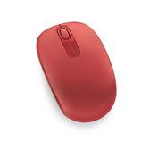 Microsoft無線行動滑鼠1850-火焰紅【愛買】