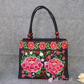 民族風包包刺繡包側背包送媽媽奶奶帆布布藝手提包 時光之旅 免運