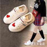 女童板鞋 小白鞋小學生韓版兒童白色鞋子女孩2019春秋新款 BF22290『寶貝兒童裝』