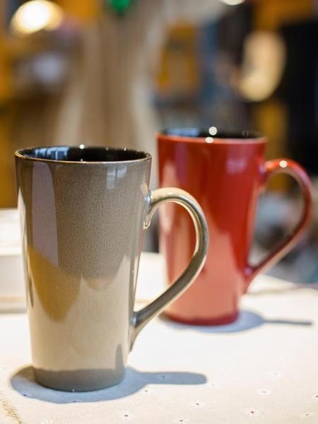 馬克杯 大容量個性陶瓷杯子帶蓋勺簡約咖啡杯創意水杯家用情侶茶杯