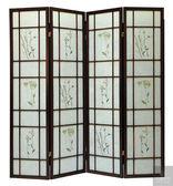 《凱耀家居》胡桃色三朵花屏風(806) 110-664-7
