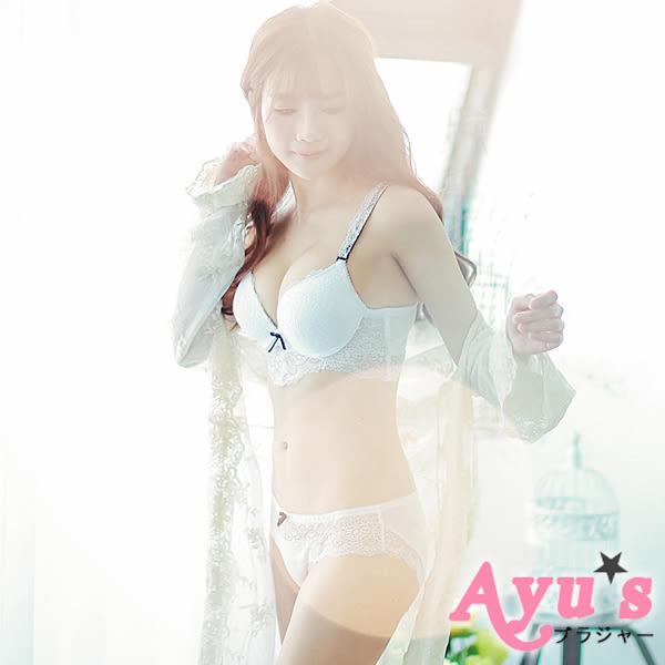 內衣 柏拉圖之戀 L杯型超集中奢華滿版蕾絲雙線設計美背 白色  - Ayu's