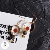微涼咖啡經典焦糖設計耳環-43